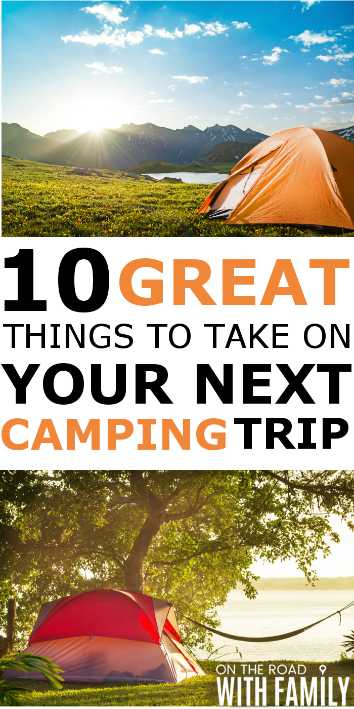 Things to take on a camping trip